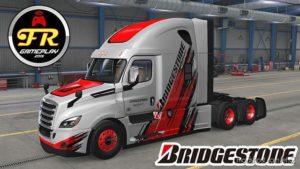 Freightliner Cascadia Bridgestone Skin for Euro Truck Simulator 2