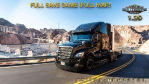 Full Save Game [1.39] (Full MAP) Mpmodsdl for American Truck Simulator