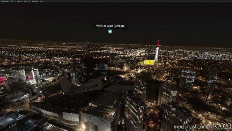 LAS Vegas Nevada Night Enhanced for Microsoft Flight Simulator 2020