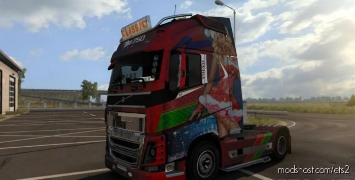 Volvo FH 2012 Xmas Paintjob 2020 for Euro Truck Simulator 2