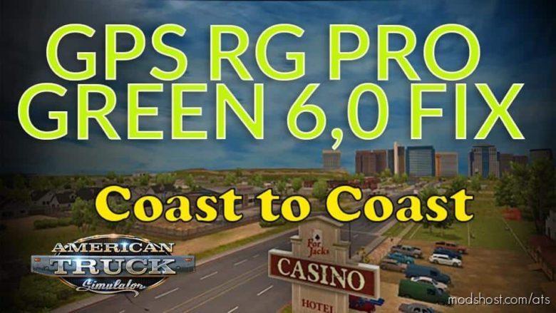 GPS RG PRO Green FIX Coast To Coast V6.0 for American Truck Simulator