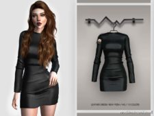 Leather Dress BD388 for The Sims 4