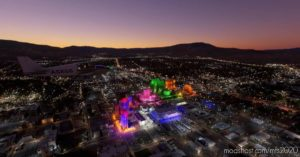 Reno Nevada Night Enhanced for Microsoft Flight Simulator 2020