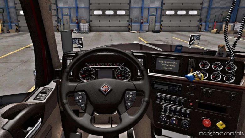 Beige Interior For International Lonestar V0.9 for American Truck Simulator