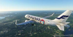 "A320Neo Finnair ""Santa Claus"" 4K Livery for Microsoft Flight Simulator 2020"