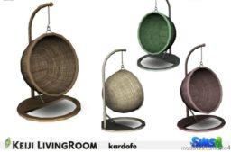 Kardofe Keiji Livingroom Hanging Chair for The Sims 4