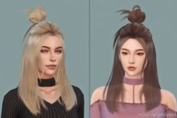 Daisysims Female Hair G24 for The Sims 4