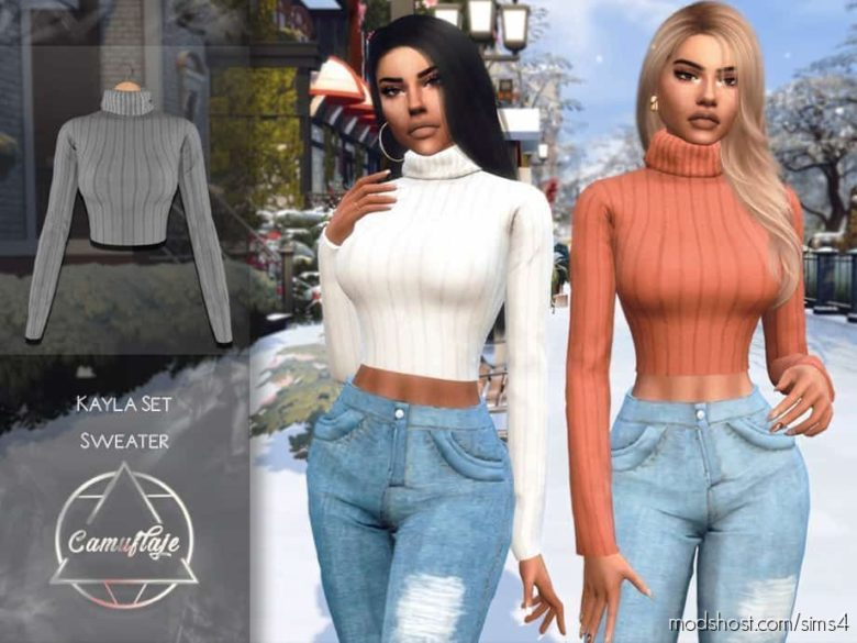 Camuflaje – Kayla SET (Sweater) for The Sims 4