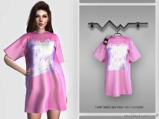 T-Shirt Dress BD371 for The Sims 4