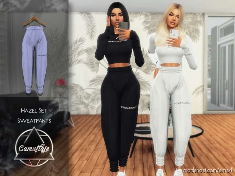 Camuflaje – Hazel SET (Sweatpants) for The Sims 4