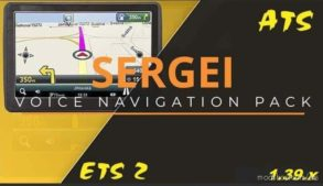 Sergey Voice Navigation Pack V2.0 for American Truck Simulator