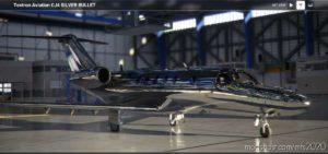 CJ4 Silverbullet Livery With Dark Interior V0.1 for Microsoft Flight Simulator 2020