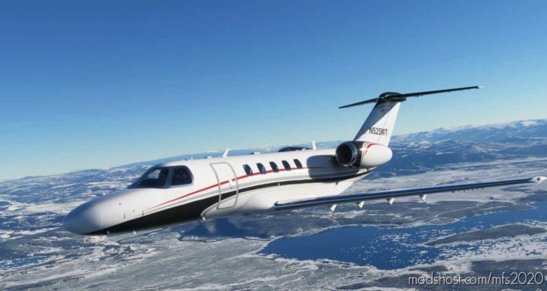 Citation CJ4 Black/Red Livery for Microsoft Flight Simulator 2020