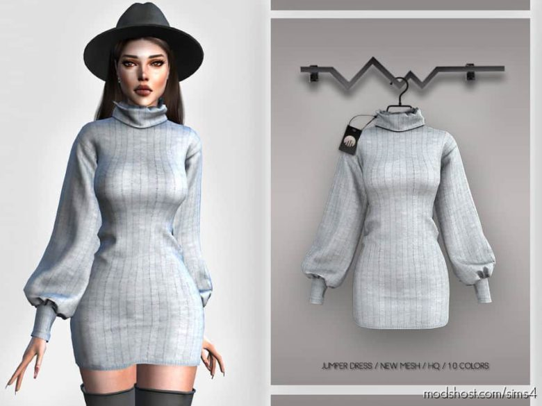 Jumper Dress BD385 for The Sims 4