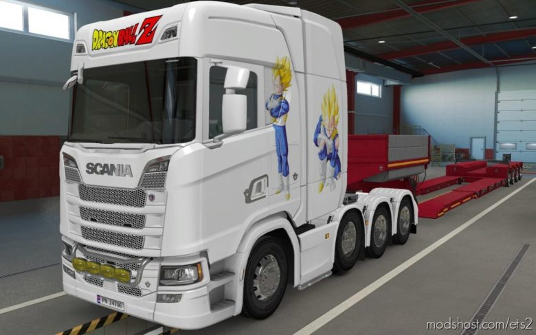 Skin Scania S 2016 8X4 Vegeta White [1.39] for Euro Truck Simulator 2