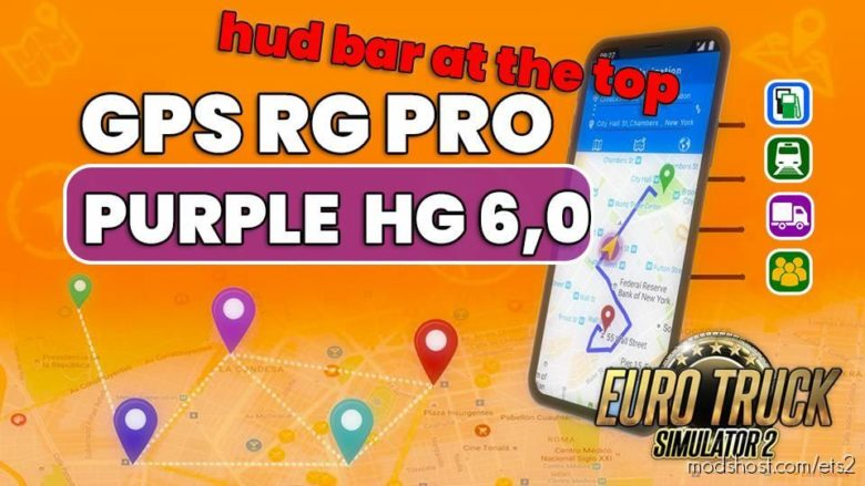 GPS RG PRO Purple HG V6.0 for Euro Truck Simulator 2
