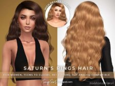 Sonyasims Saturns Rings Hair for The Sims 4
