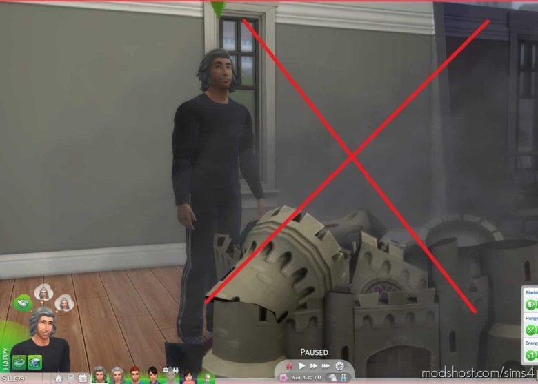 NO Autonomous Dollhouse Smashing for The Sims 4
