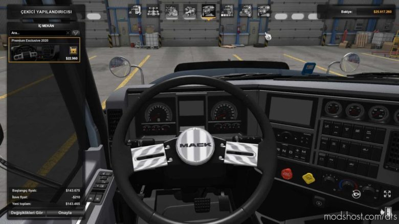 Mack CHU 613 V2.5 + NEW Interior for American Truck Simulator