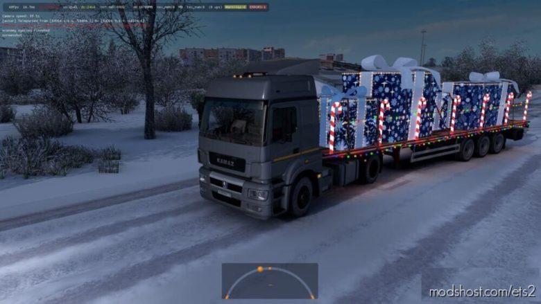 Christmas Package Kamaz NEO Xmas [1.39] for Euro Truck Simulator 2