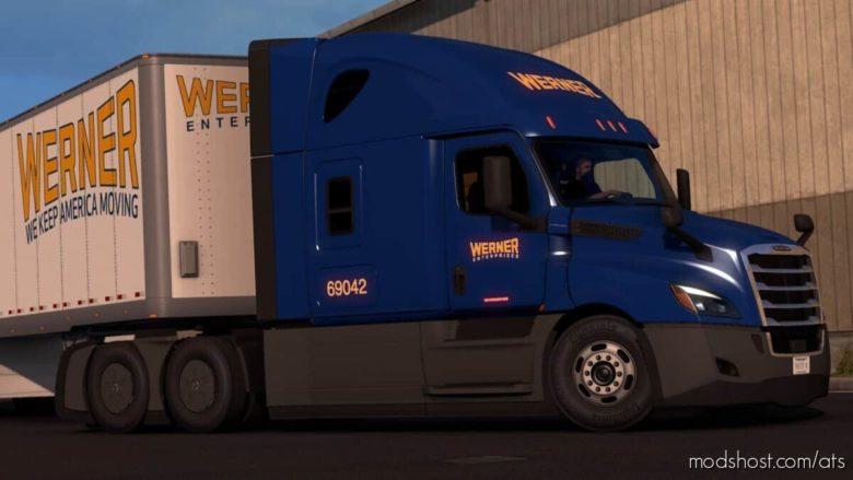 Werner Freightliner Cascadia + Trailer for American Truck Simulator
