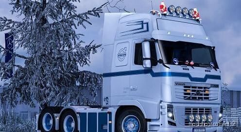 Changeable Metallic Stripe For Volvo FH 2009 [1.39] for Euro Truck Simulator 2