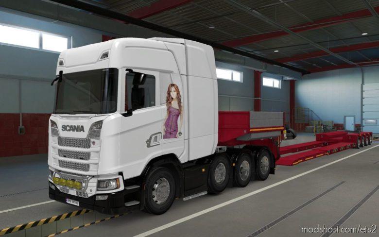 Skin Scania S 2016 8X4 Dulce Maria [1.39] for Euro Truck Simulator 2