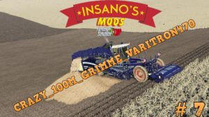 Crazy 100M Grimme Varitron470 Potato Harvester for Farming Simulator 19