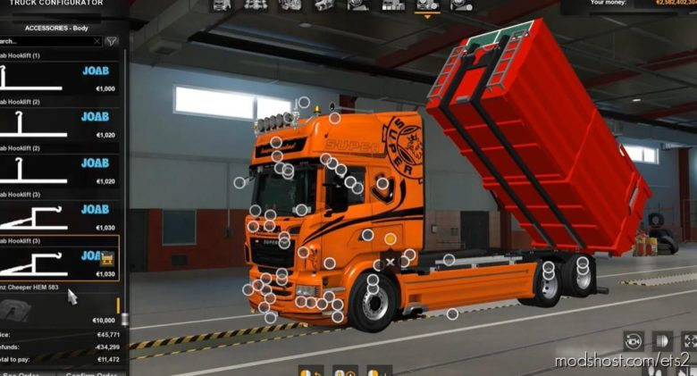 Teklic Chassis Base Joab Abroll [1.39.X] for Euro Truck Simulator 2