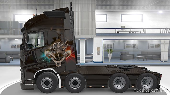 "Volvo Paintjob ""GOLD Heart"" for Euro Truck Simulator 2"