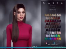 Anto – Marta (Hairstyle) for The Sims 4