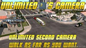 Unlimited 2's Camera [1.39] (Sinirsiz Kamera) V0.1 for American Truck Simulator