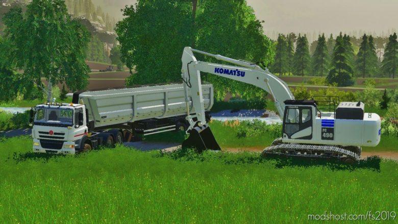 Komatsu PC490 for Farming Simulator 19