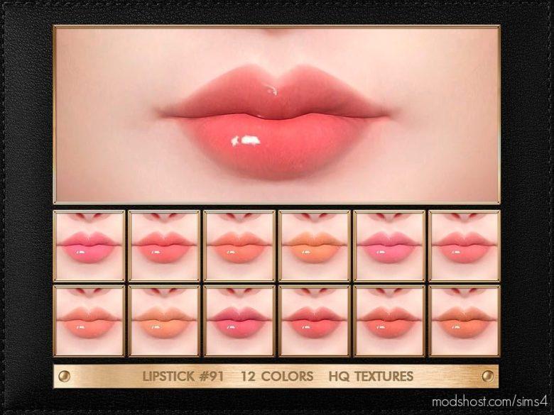 JUL Haos [Cosmetics] Lipstick #91 for The Sims 4