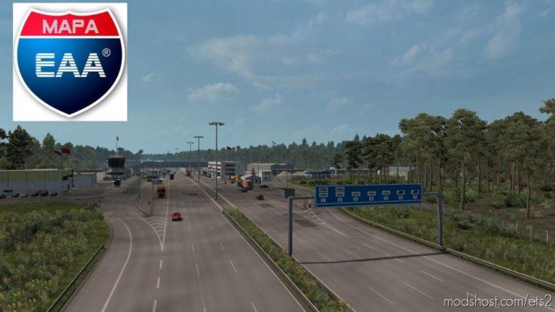 OLD German Border Mod Mapa EAA FIX [1.39.X] for Euro Truck Simulator 2