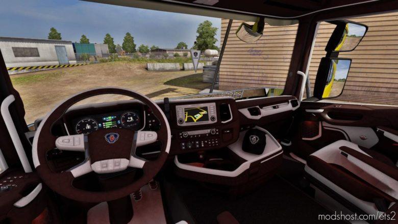 Scania Next GEN Brown – White Interior [1.39] for Euro Truck Simulator 2