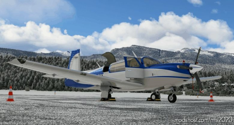 Blue / White / Grey Livery For Carenado Mooney for Microsoft Flight Simulator 2020