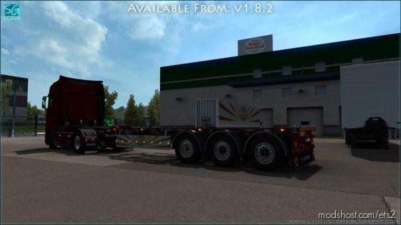 SCS Trailer Tuning Pack V1.8.2 for Euro Truck Simulator 2