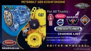 Peterbilt 389 625HP Engine For ALL Trucks Mod Multiplayer [1.39] for American Truck Simulator