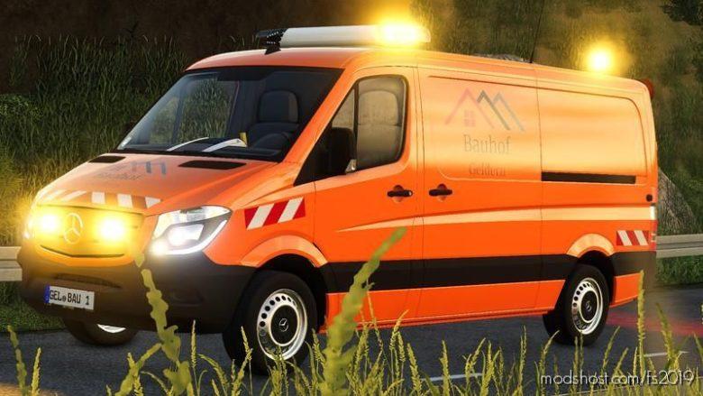 Building Yard Geldern Sprinter With Warning Cross for Farming Simulator 19
