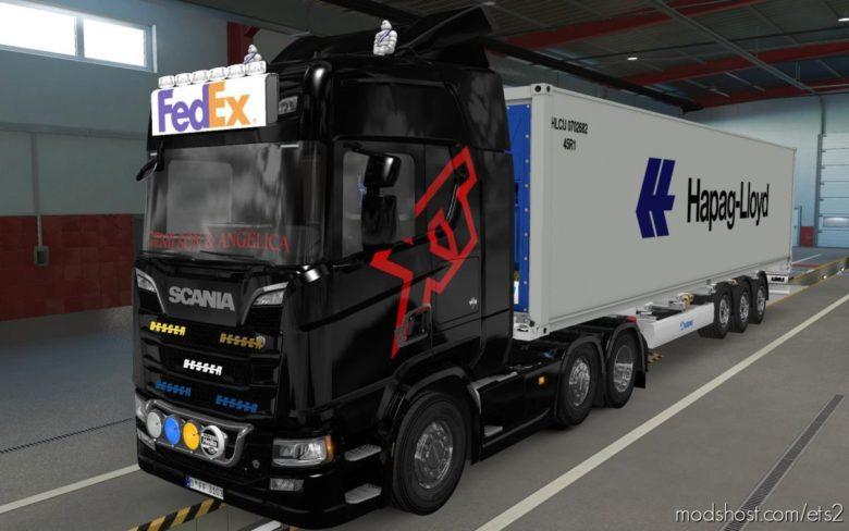 BIG Lightbox Scania R And S 2016 Fedex [1.39] for Euro Truck Simulator 2