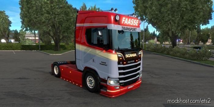 Faasse Transport Skin Scania S650 for Euro Truck Simulator 2