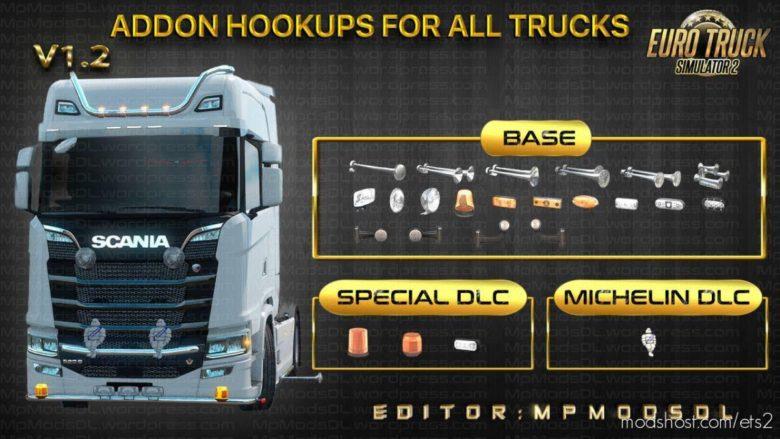 Addon Hookups For ALL Trucks Mod Single-Multiplayer V1.2 for Euro Truck Simulator 2
