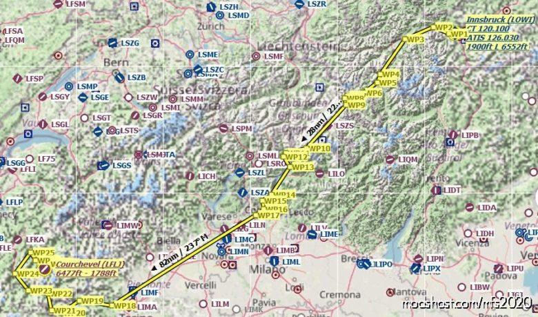 Innsbruck (Lowi) To Courchevel (Lflj) Flight Plan V1.1 for Microsoft Flight Simulator 2020