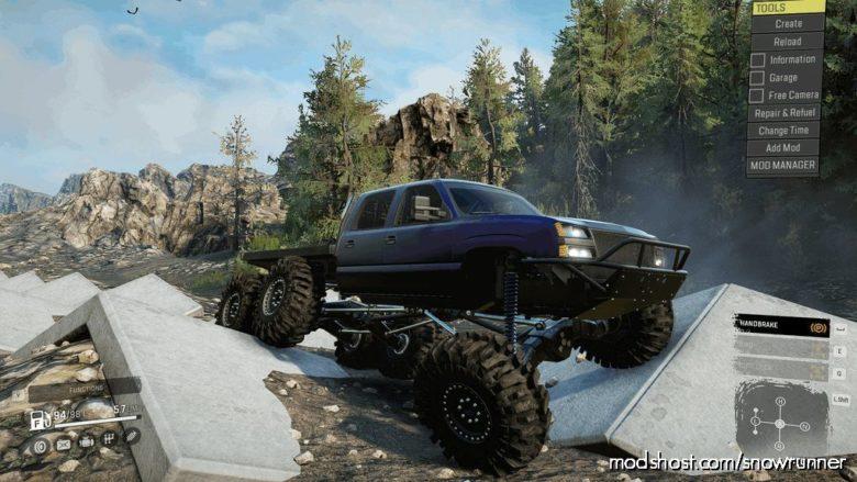 Frog's 2007 Chevy Silverado 6×6 Crawler for SnowRunner