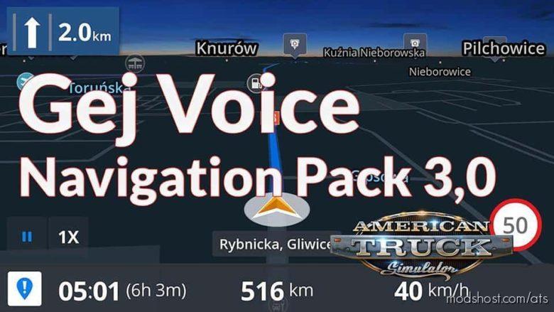 GEJ Voice Navigation Pack V3.0 for American Truck Simulator