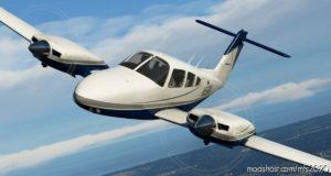 Blue And Silver Livery For Carenado PA44 Seminole for Microsoft Flight Simulator 2020