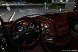 Interior For DAF XF 105 Mahogany V1.1 for Euro Truck Simulator 2