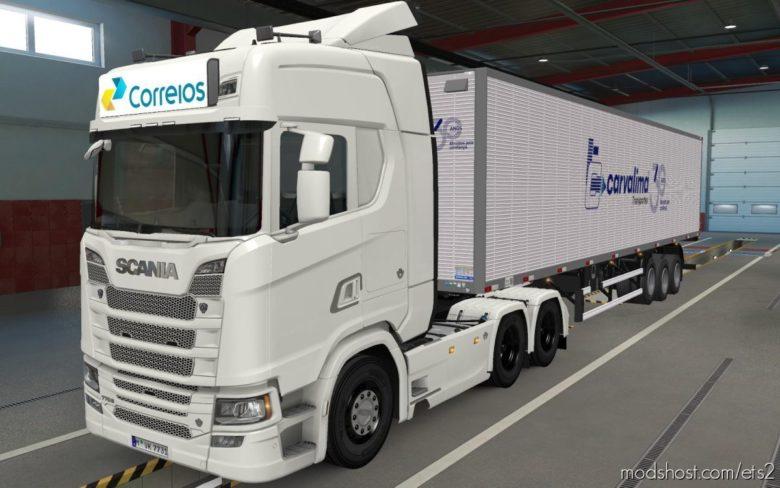 BIG Lightbox Scania R And S 2016 Correios [1.39] for Euro Truck Simulator 2
