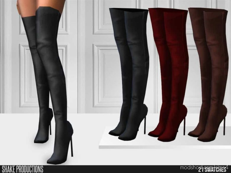 Shakeproductions 598 – High Heel Boots for The Sims 4